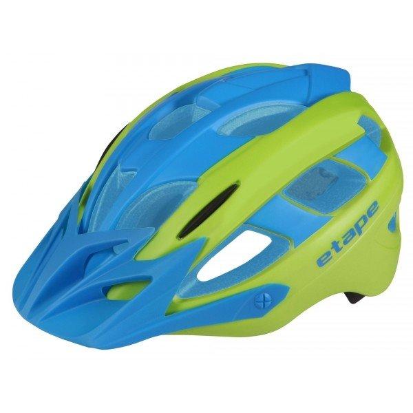 Modro-zelená dětská cyklistická helma Etape