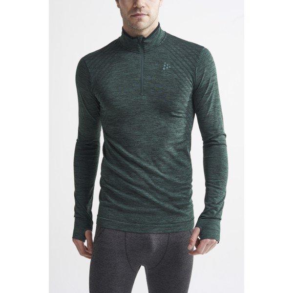 Zelené pánské tričko s dlouhým rukávem Craft