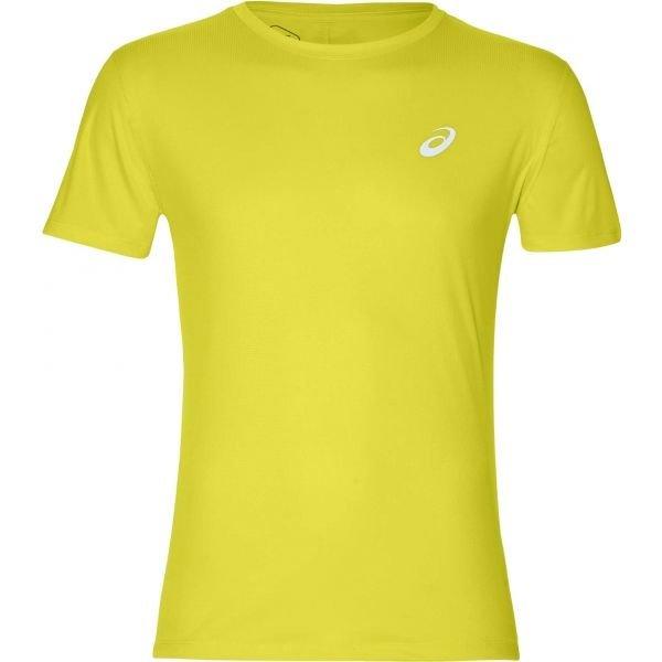 Žluté pánské běžecké tričko Asics