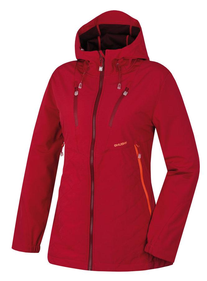 Růžová softshellová dámská bunda Husky - velikost M