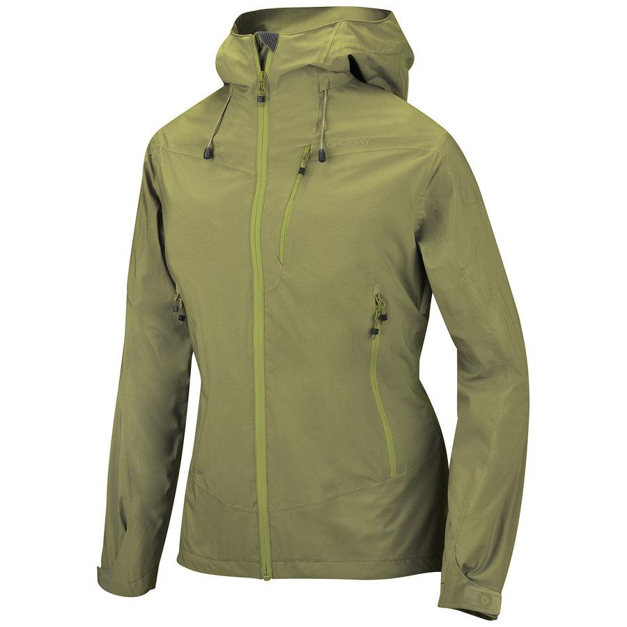 Zelená hardshellová dámská bunda Husky