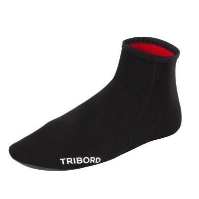 Černo-červené neoprenové ponožky Olaian