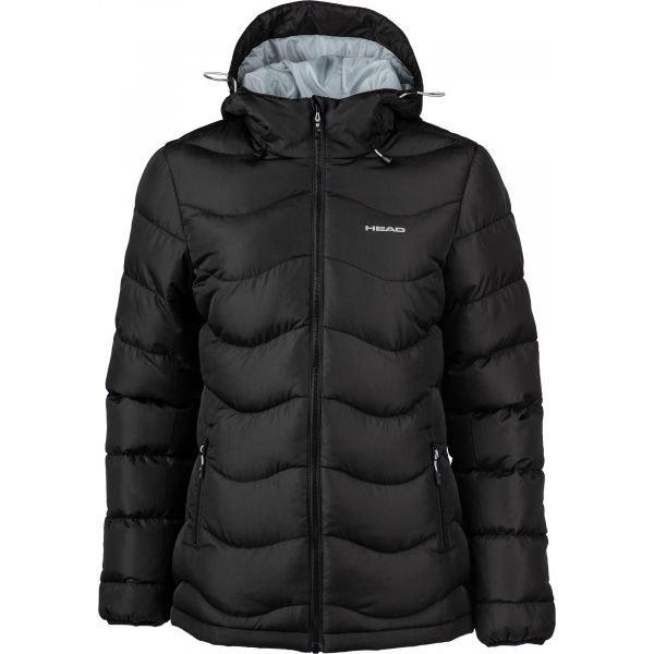 Černá zimní dámská bunda s kapucí Head