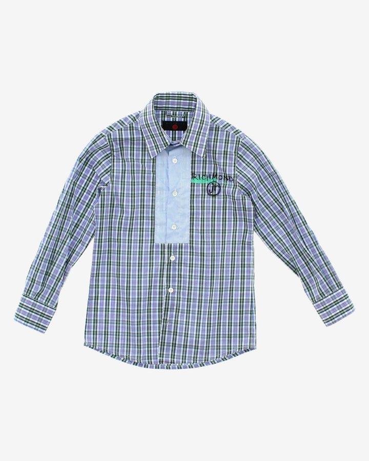 Modrá chlapecká košile s dlouhým rukávem John Richmond - velikost 116