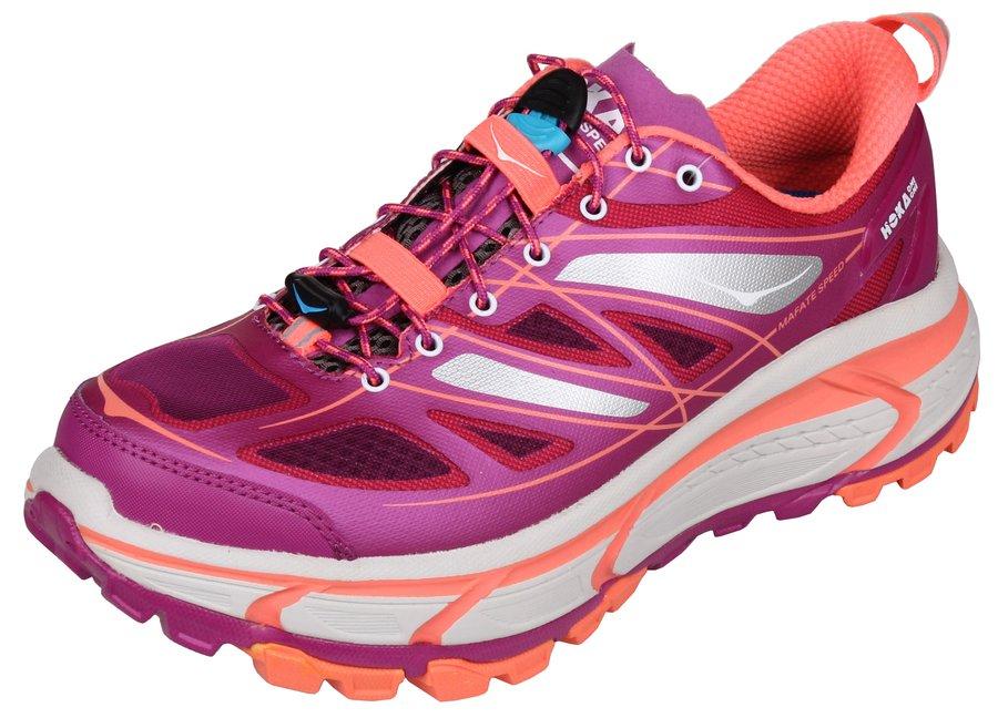 Fialové dámské běžecké boty - obuv Mafate Speed, Hoka One One - velikost 38,5 EU