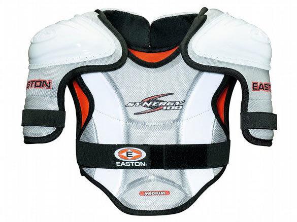 Bílý hokejový chránič ramen - youth Easton - velikost M