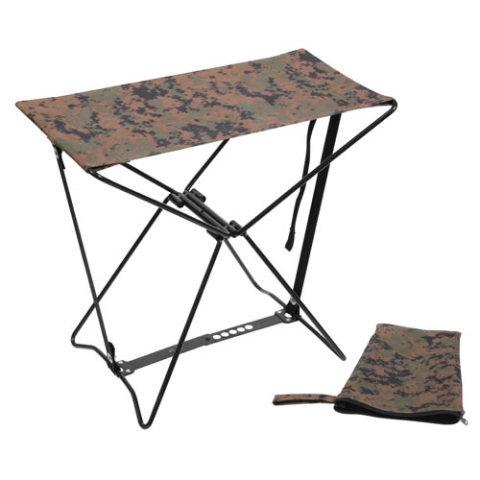Kempingová židle - Stolička skládací ARMY DIGITAL WOODLAND