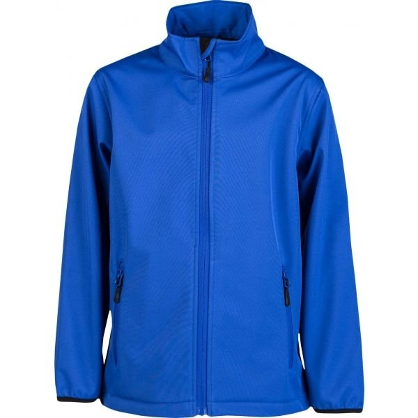 Modrá softshellová chlapecká bunda Kensis