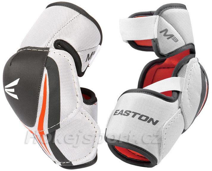 Bílo-černý hokejový chránič loktů - junior Easton - velikost L