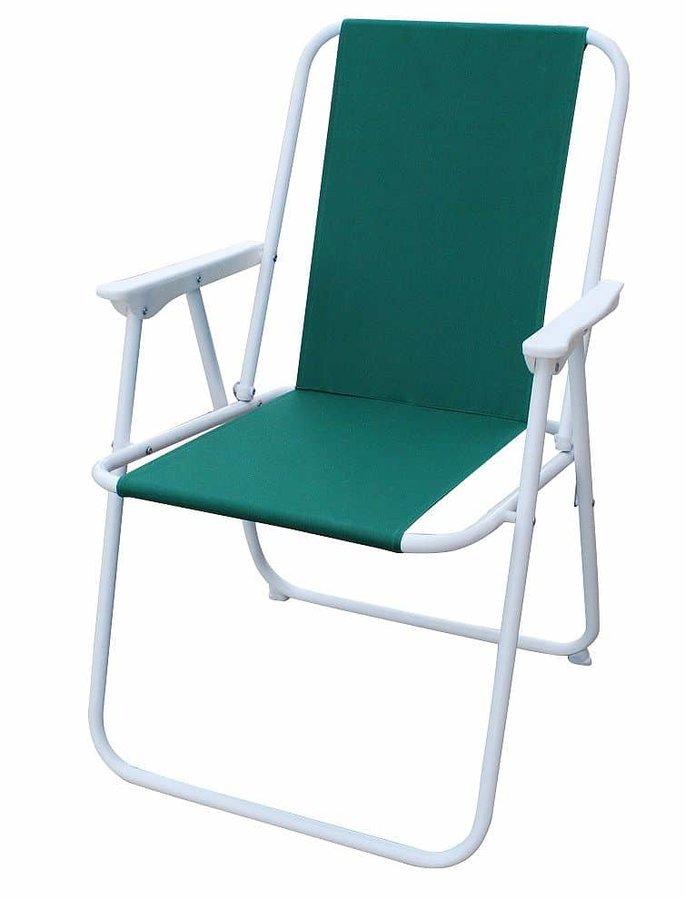 Kempingová židle - Plážové skládací křeslo, zelené