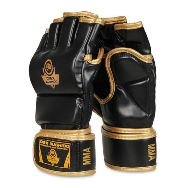 Černo-zlaté MMA rukavice Bushido - velikost XL