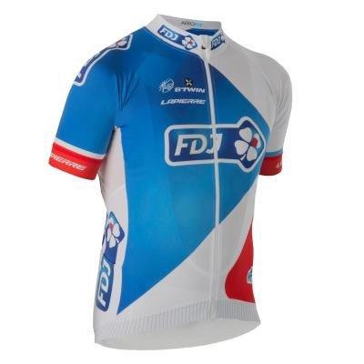 Bílý pánský nebo dámský cyklistický dres B'TWIN - velikost XL