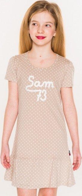 Béžové dívčí šaty Sam 73
