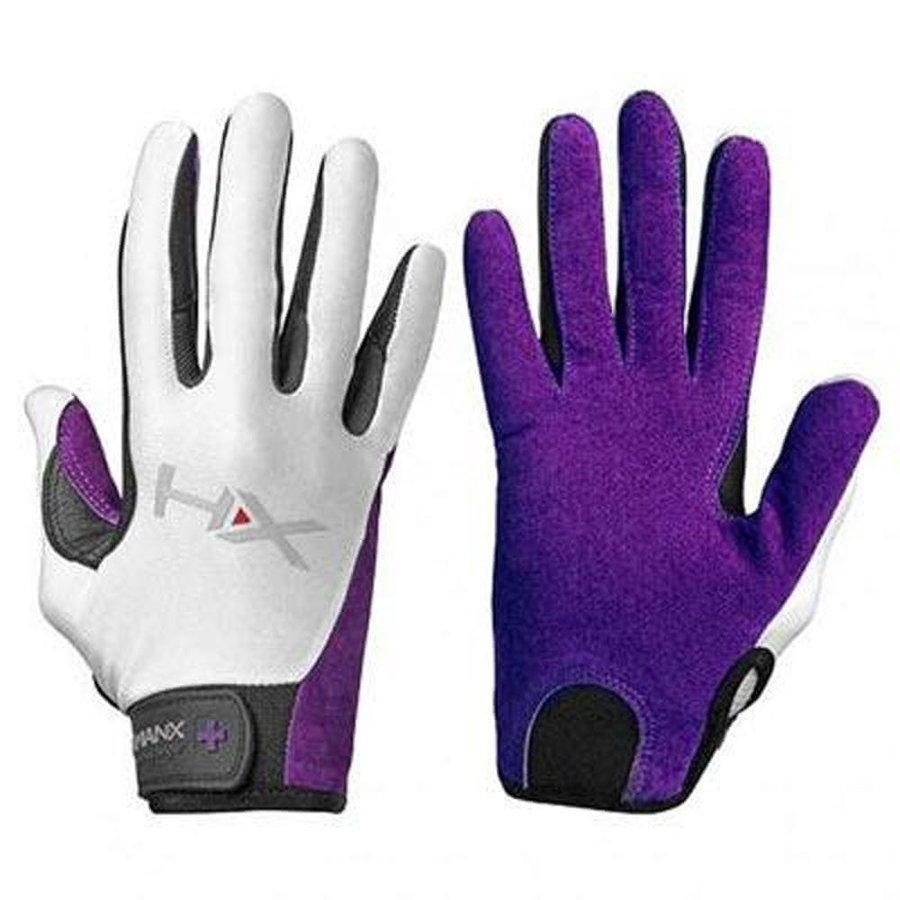 Bílo-fialové dámské fitness rukavice Harbinger - velikost S