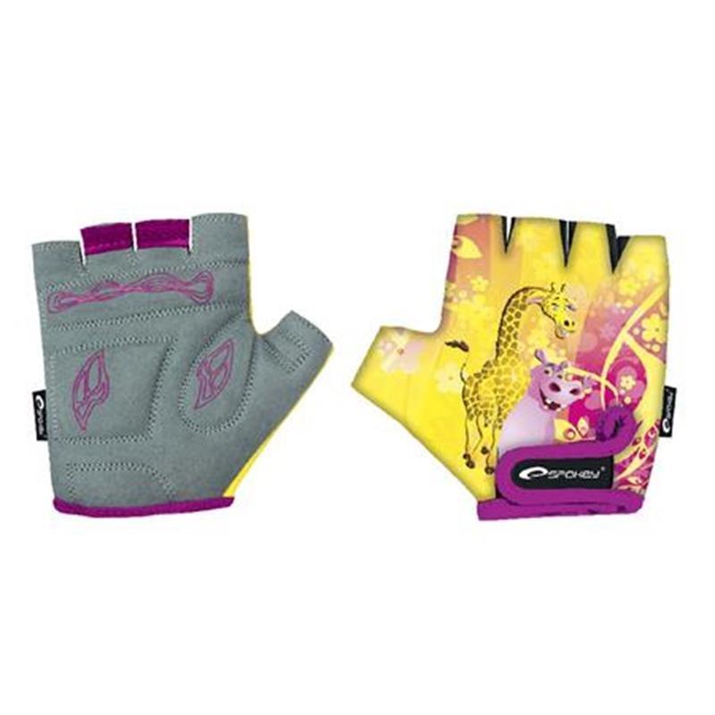 Cyklistické rukavice - SPOKEY - GIRAFFE GLOVE Dětské cyklistické rukavice dětské XXS (15,5 cm)