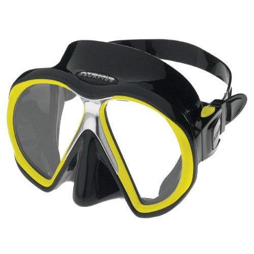 Černo-žlutá potápěčská maska Atomic Aquatics
