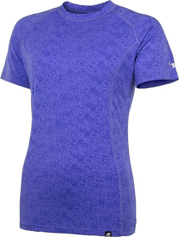 Fialové dámské tričko s krátkým rukávem Hannah - velikost 36