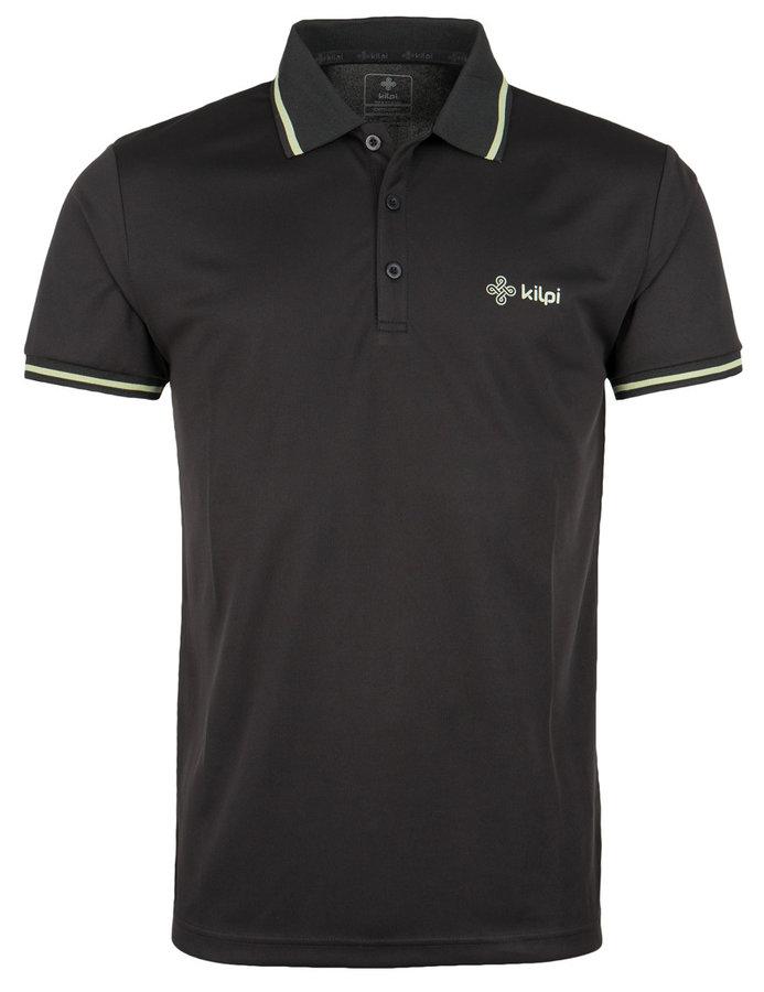 Černé pánské tričko s krátkým rukávem Kilpi - velikost S