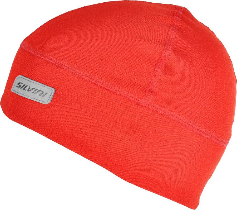 Červená dámská zimní čepice Silvini - velikost S-M