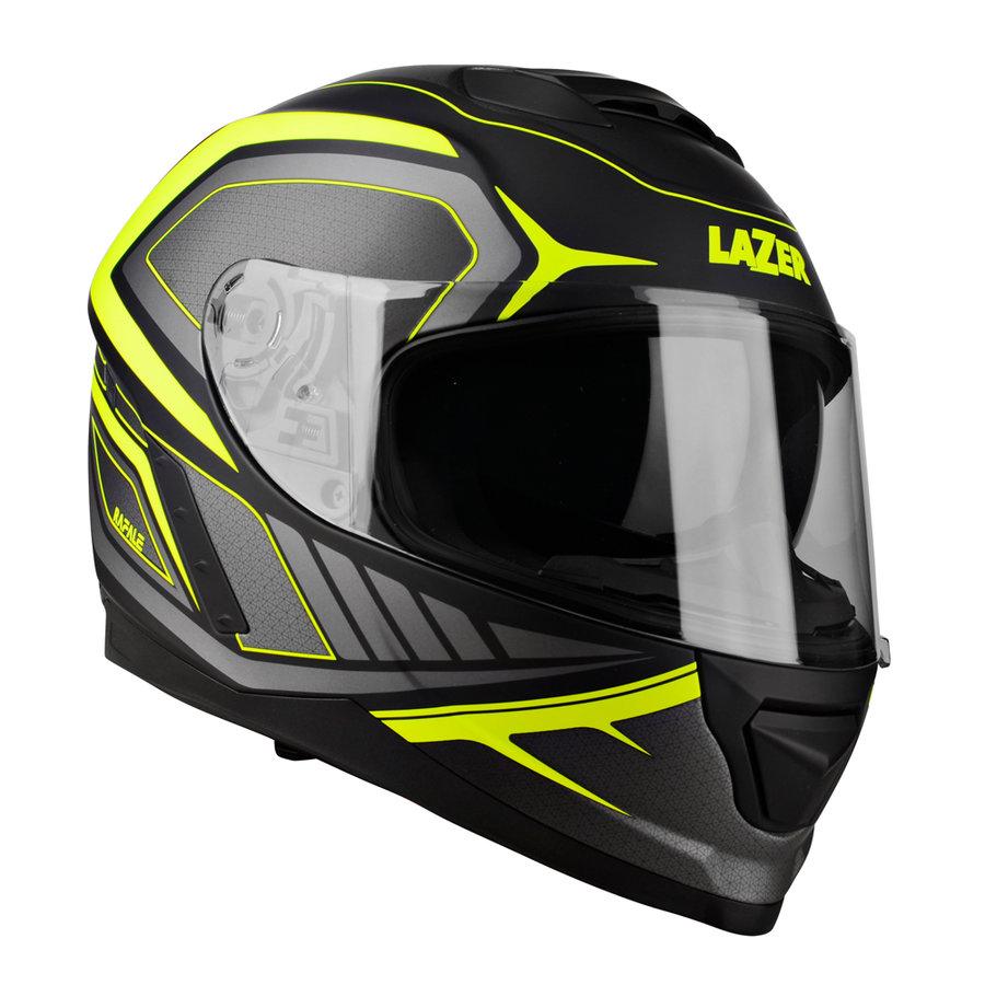 Černo-žlutá unisex helma na motorku Rafale Hexa, Lazer