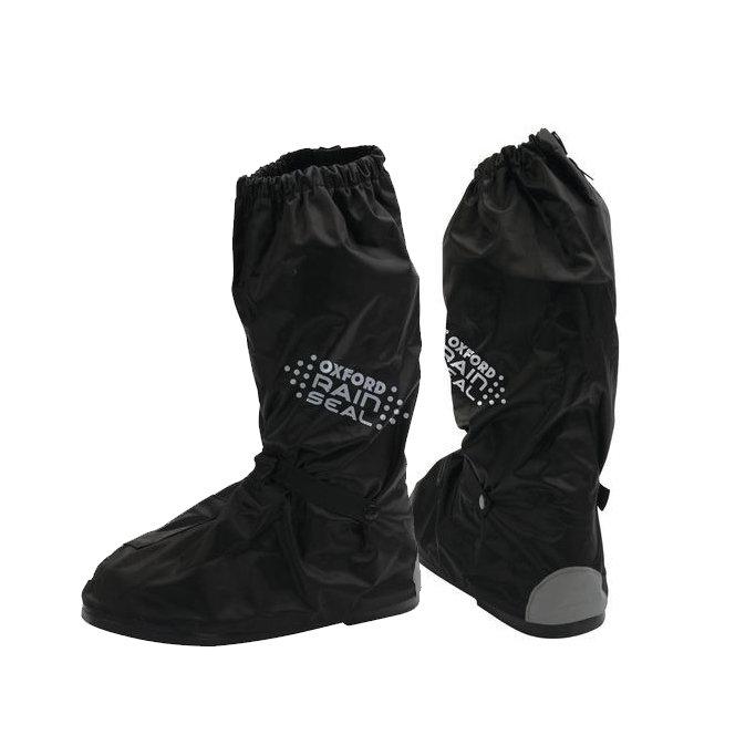 Černé motorkářské návleky na boty Oxford