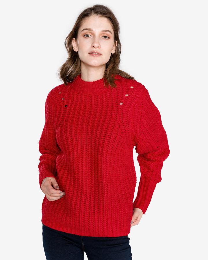 Červený dámský svetr Selected - velikost S