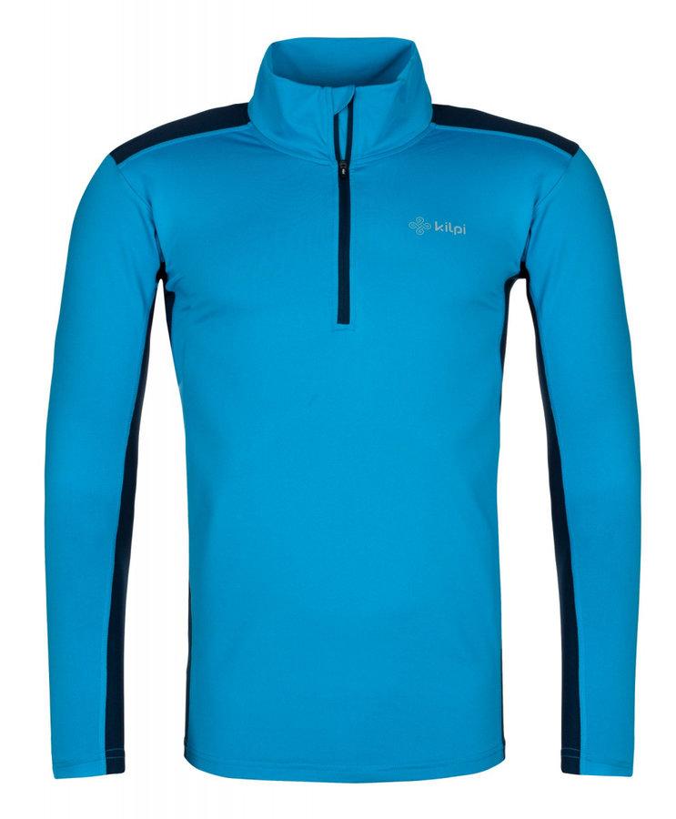 Modré pánské funkční tričko s dlouhým rukávem Kilpi - velikost XXL