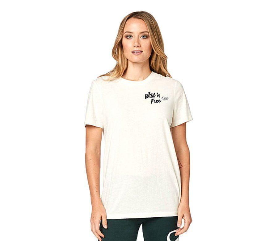 Bílé dámské motorkářské tričko s krátkým rukávem Fox