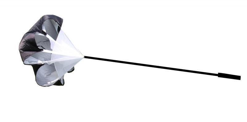 Černý tréninkový brzdící padák LiveUp