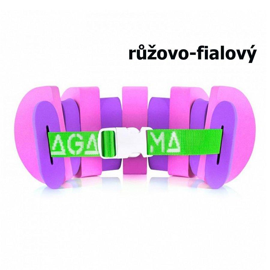 Fialovo-růžový plavecký pás Agama - délka 100 cm