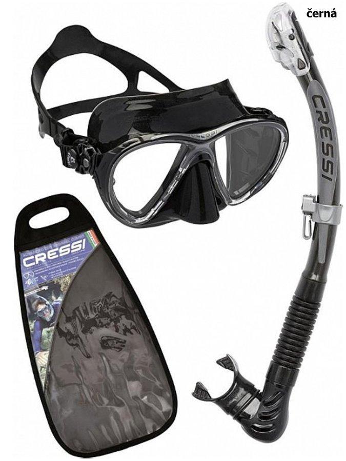 Potápěčská sada - Potápěčský set CRESSI Big Eyes+Alpha Ultra Dry - černá