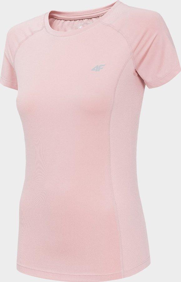 Růžové dámské funkční tričko s krátkým rukávem 4F