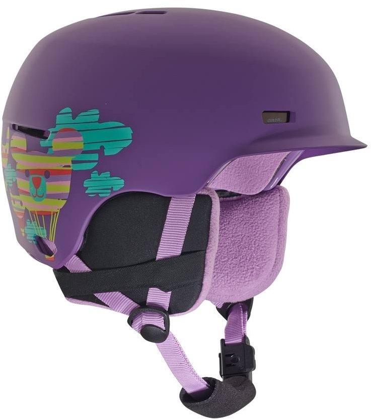 Fialová dětská lyžařská helma Anon