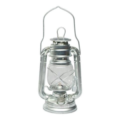 Stříbrná petrolejová lampa MIL-TEC
