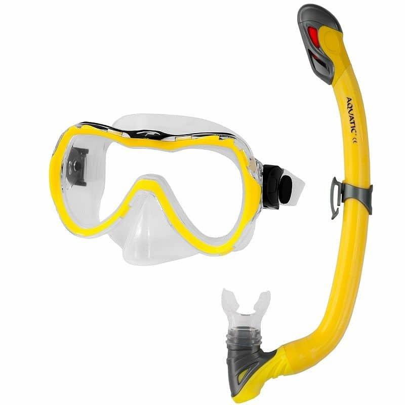 Potápěčská sada - Enzo+Samos dětský potápěčský set barva: žlutá