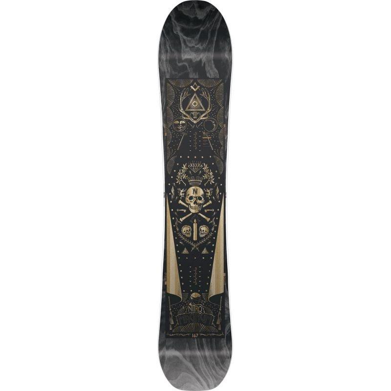 Černý snowboard bez vázání Nitro - délka 167 cm