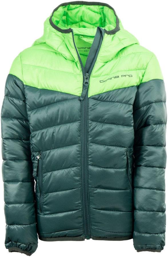 Zelená dětská bunda Alpine Pro - velikost 140