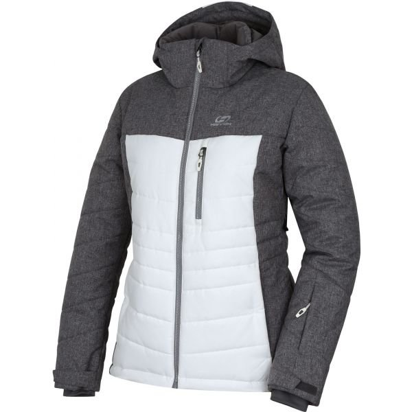 Bílo-šedá dámská lyžařská bunda Hannah
