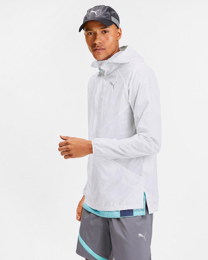 Bílá pánská bunda - větrovka Puma - velikost M