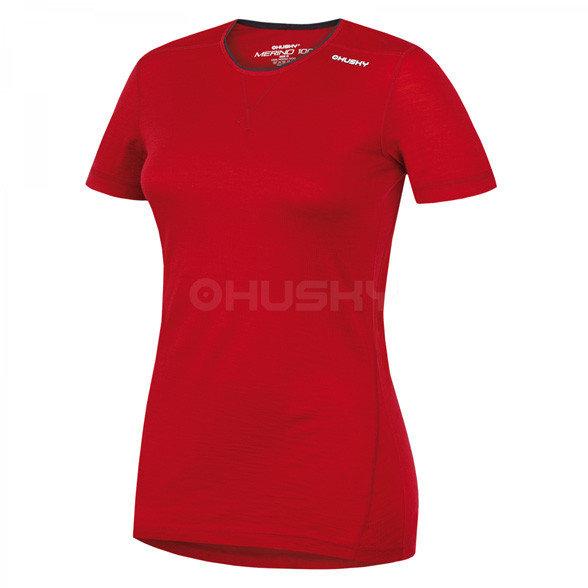 Červené dámské funkční tričko s krátkým rukávem Husky