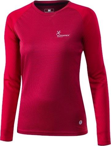 Červené dámské běžecké tričko Klimatex