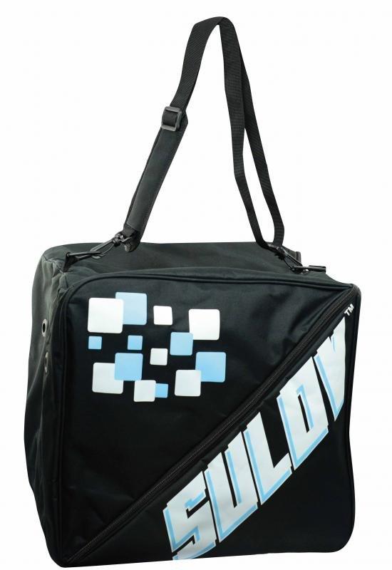Černá taška na lyžařské boty pro 3 páry Sulov