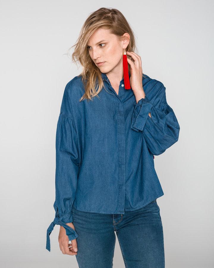 Modrá dámská košile s dlouhým rukávem Levi's