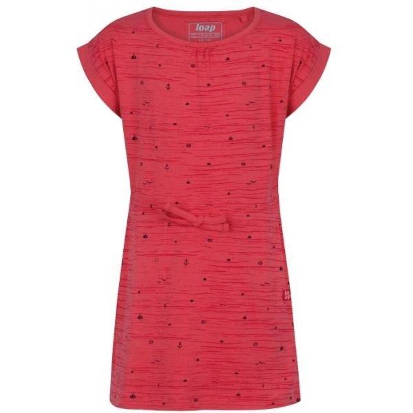 Růžové dívčí šaty Loap