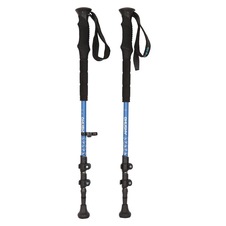 Modrá trekingová hůl Slate, Husky - délka 135 cm