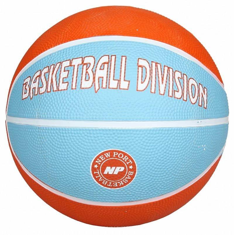 Modro-oranžový basketbalový míč Print Mini, New Port - velikost 3