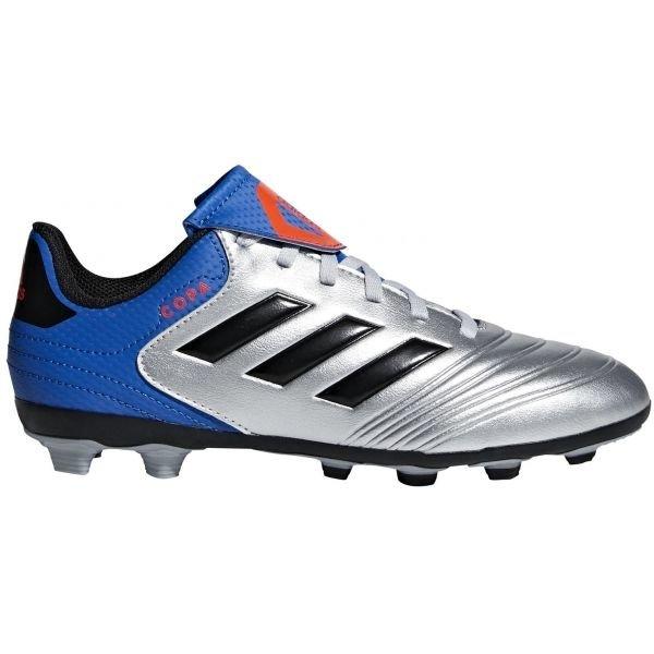 Modro-stříbrné dětské kopačky Adidas