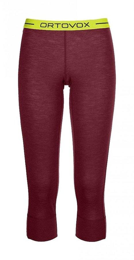 Červené 3/4 dámské termo kalhoty Ortovox