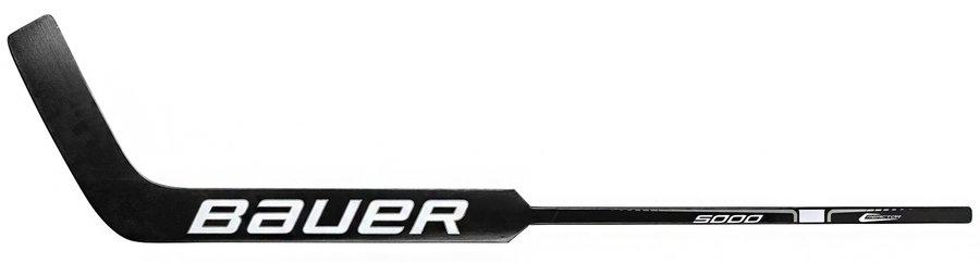"""Brankářská hokejka - Brankářská hůl Bauer Reactor 5000 Wood BLACK Junior Provedení: levá 21"""" (53 cm)"""