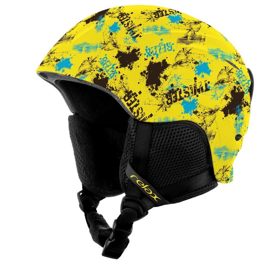 Žlutá dětská lyžařská helma Relax - velikost S
